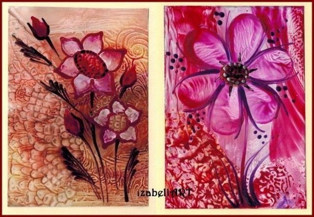 č.2162: Enkaustika na květinové téma