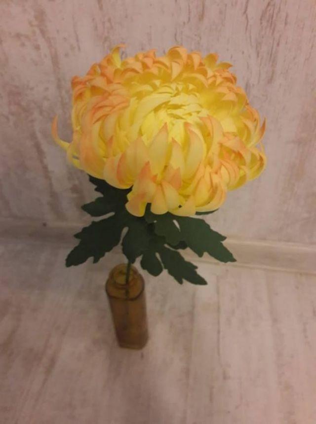 č.2259: Květiny z Foamiranu  - CHRYZANTÉMA